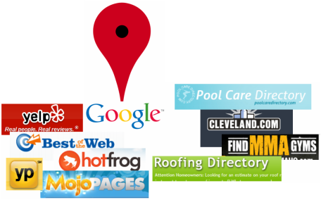 A strong presence on line locally begins with Google places and numerous other directories and websites.