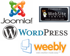We are experienced and regularly perform SEO with Joomla, WordPress, Weebly, Website Tonight, Website Baker and more.