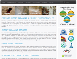 A local landing page on local business website.