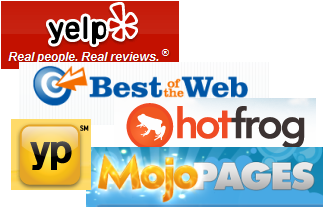 Local web listings optimization, Yelp, Best of the Web, HotFrog, YekllowPAges, MojoPages.